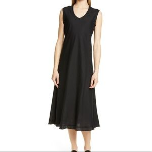 Eileen Fisher shaped sleeveless linen black dress